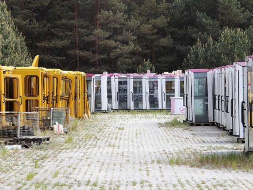 Abstellgleis der Telefonzellen