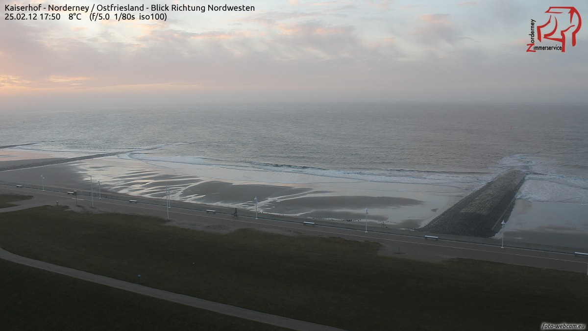 Sonnenuntergang Norderney am 25.2.2012