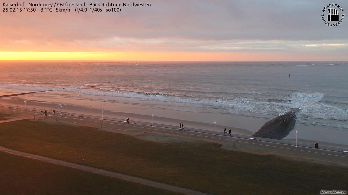 Norderney Sonnenuntergang am 25.2.201517:50Uhr