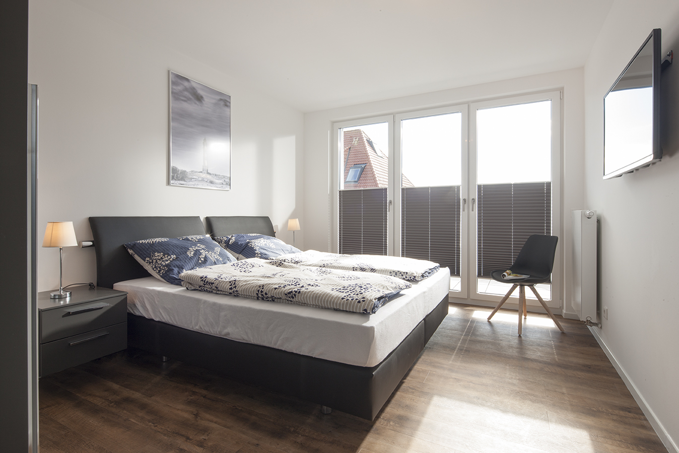 Fewo Flut Schlafzimmer