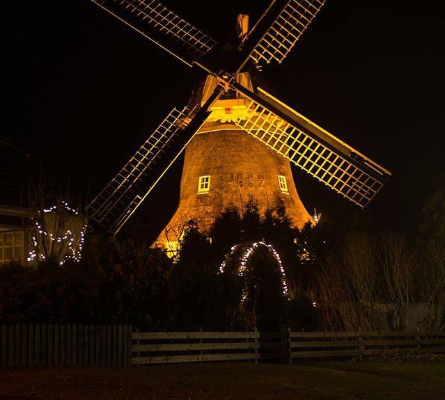 Mühle nachts