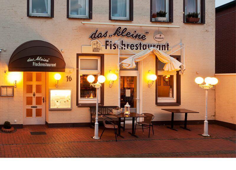 Kleine Fischrestaurant aussen