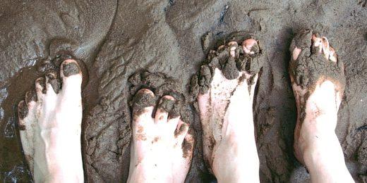 Wattwanderung Füße