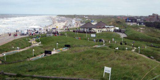 Miniatur Golf am Strand