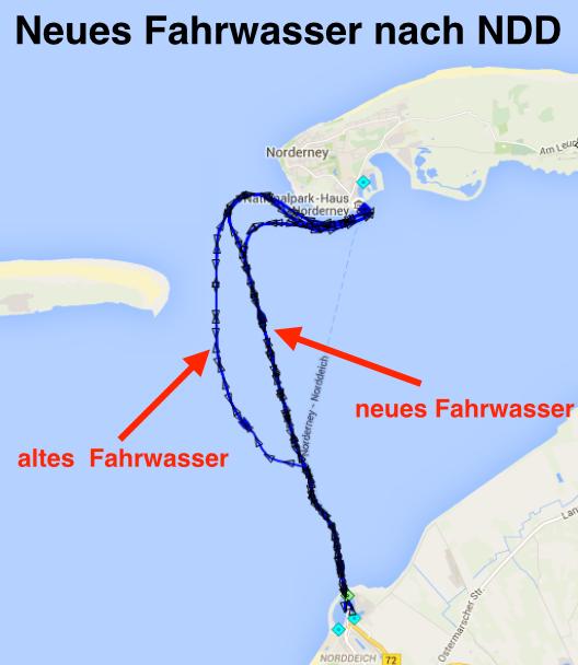 neues Fahrwasser Norddeich Norderney