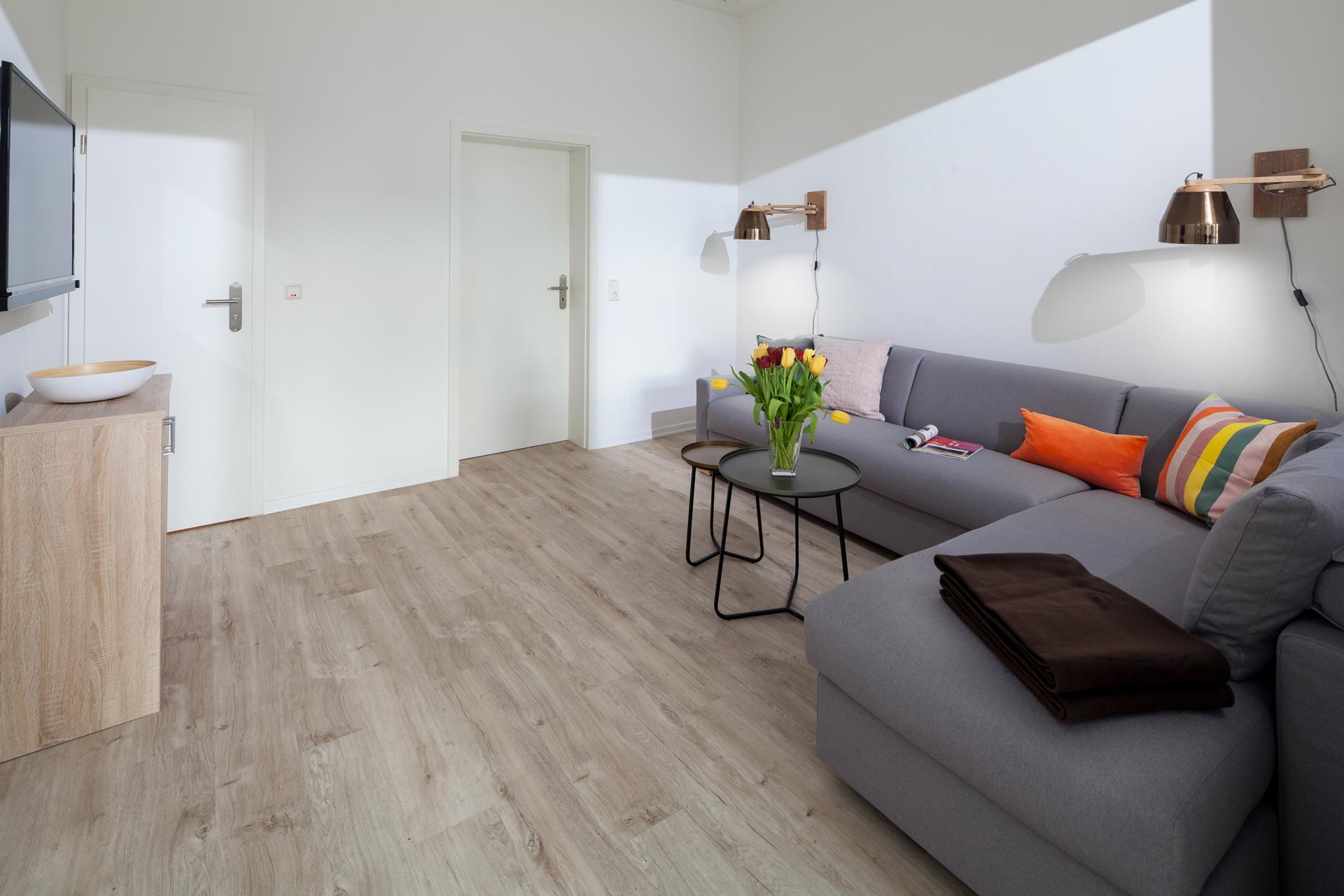 Lucia 1 Wohnraum sofa