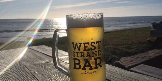 Bier am Weststrand