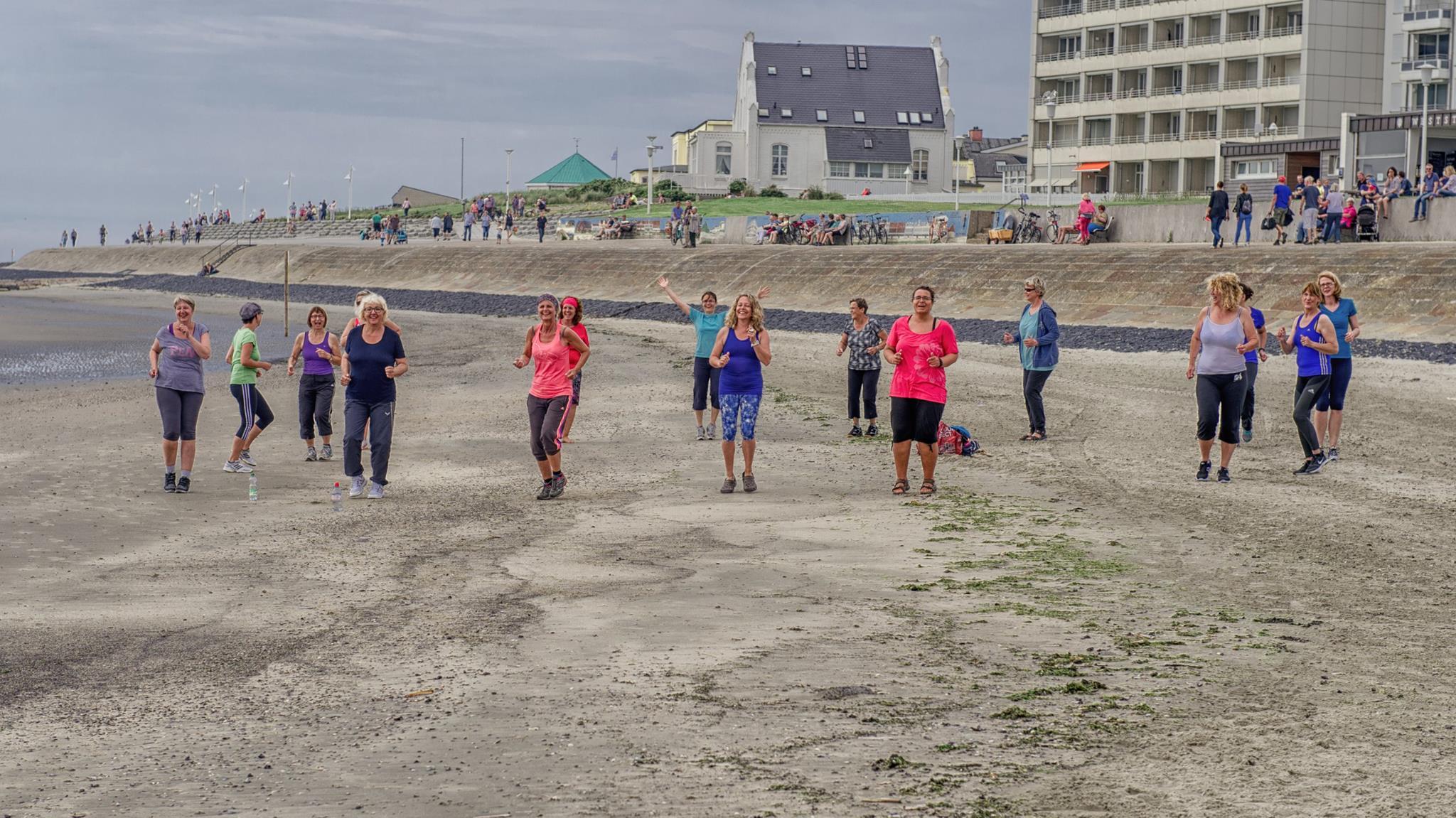 Fastenzeit auf Norderney Strandgymnastik