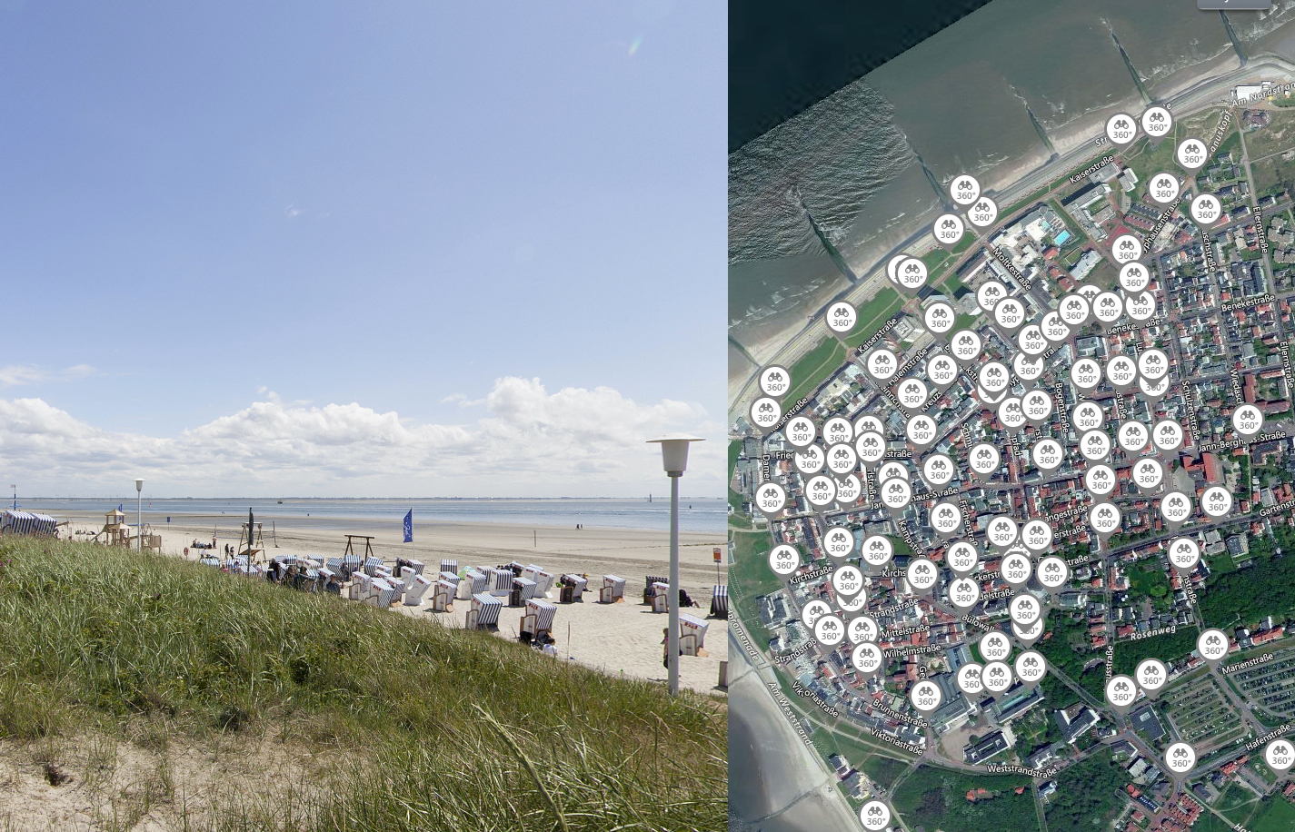 norderney street view 360