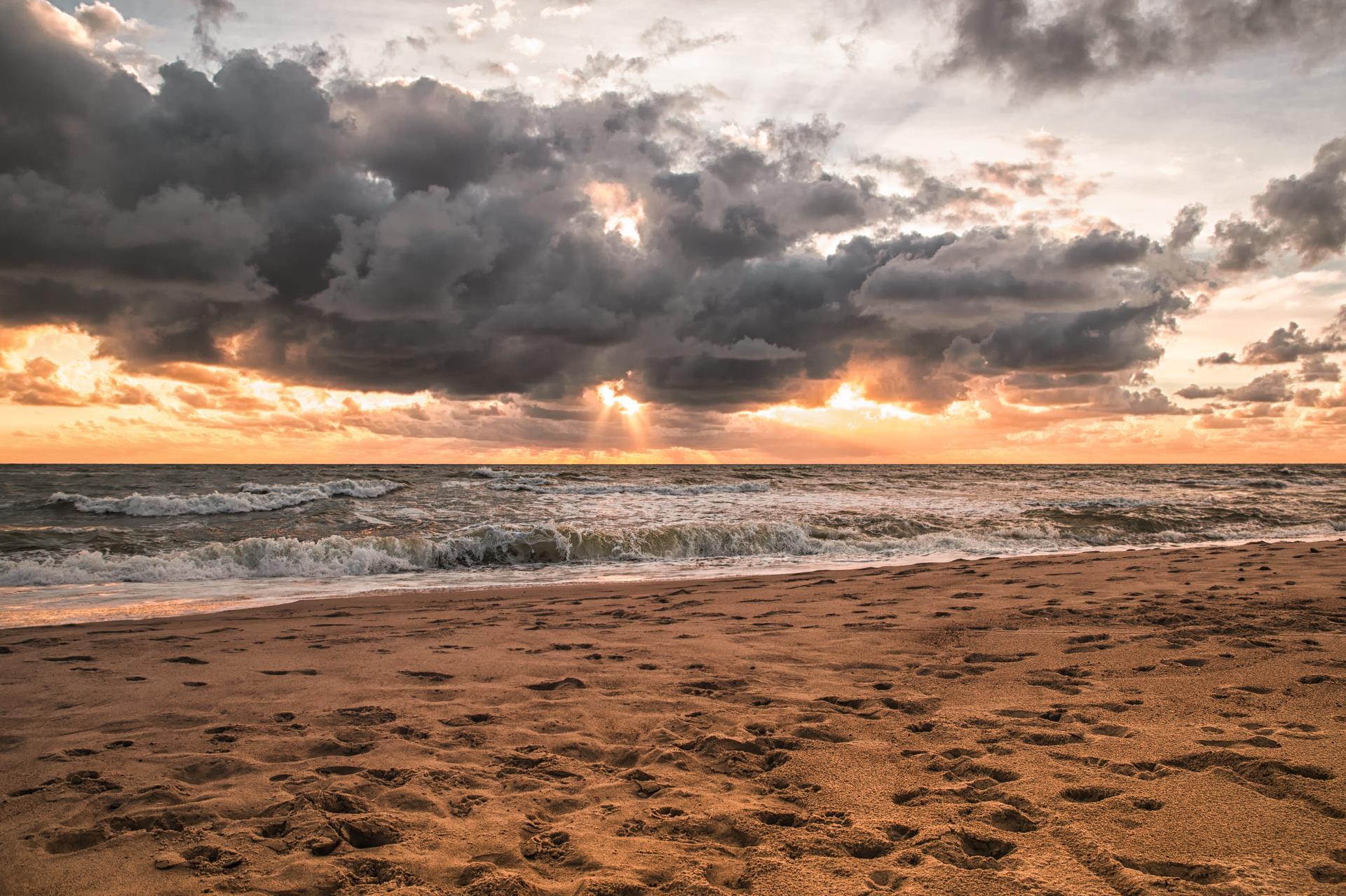 strand im Herbst auf Norderney
