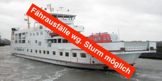 Sturm Fähre frisia