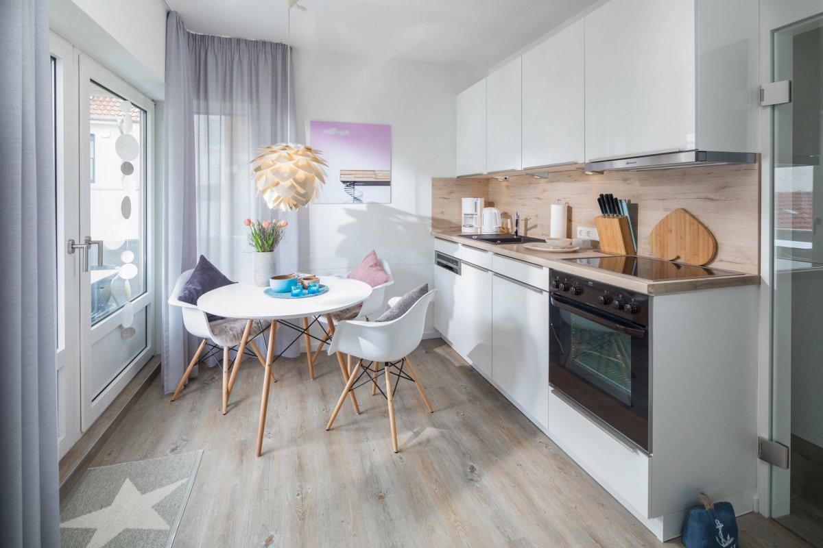 Ankerplatz neue Ferienwohnung Norderney Küche