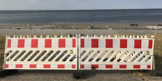 Strandzugang gesperrt