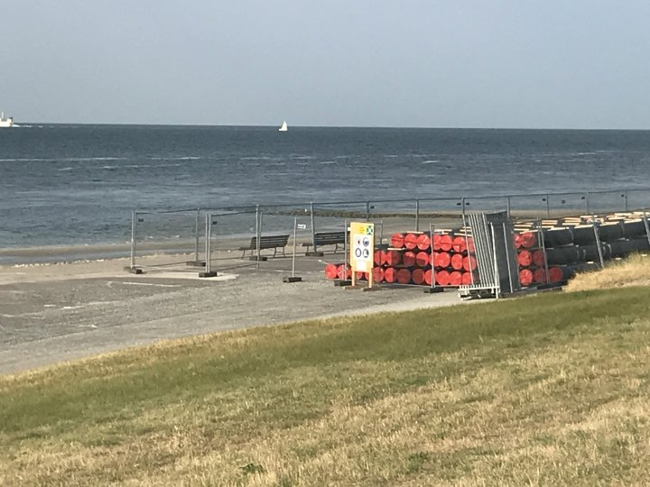 Strandzugang gesperrt Ablaufbahn