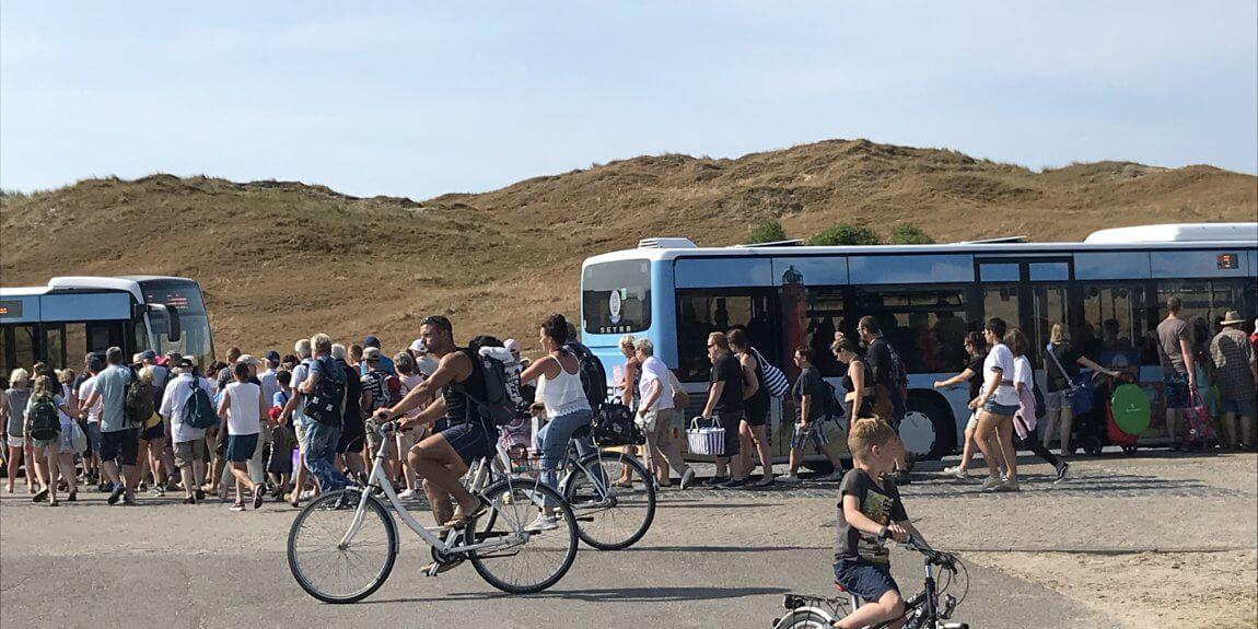 Bus an der Weissen Düne