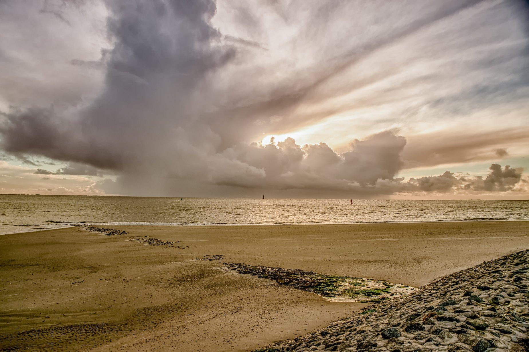 wolken strand