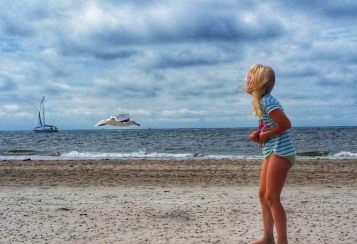 Glücklich auf Norderney - am Strand