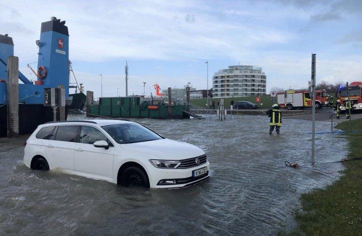 Hochwasser Norddeich
