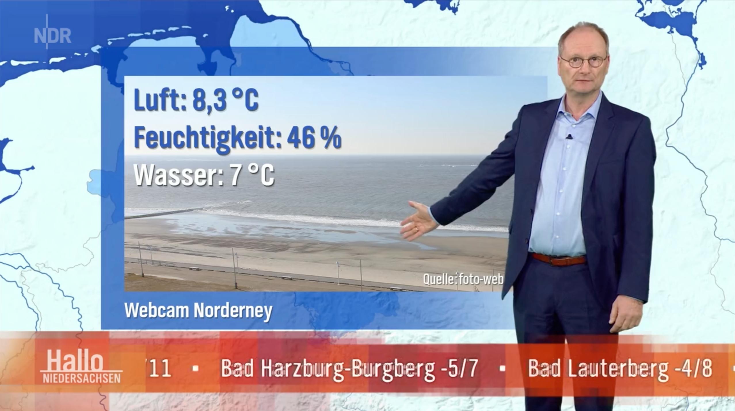 quarantäne Norderney Wetter im Fernsehen