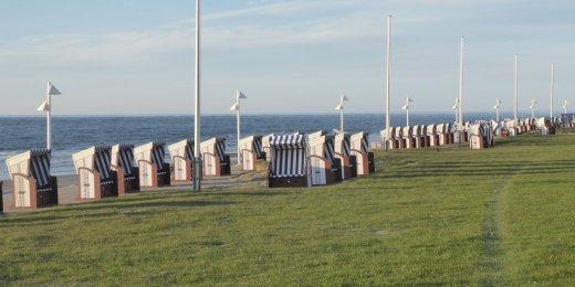 Strandkörbe an der Kaiserwiese