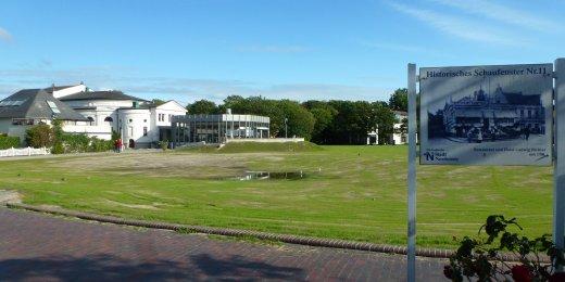 Haus der Insel grüne Wiese