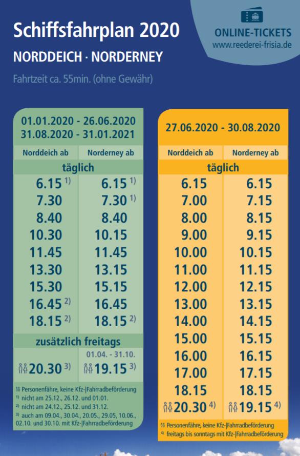 Fahrplan Frisia