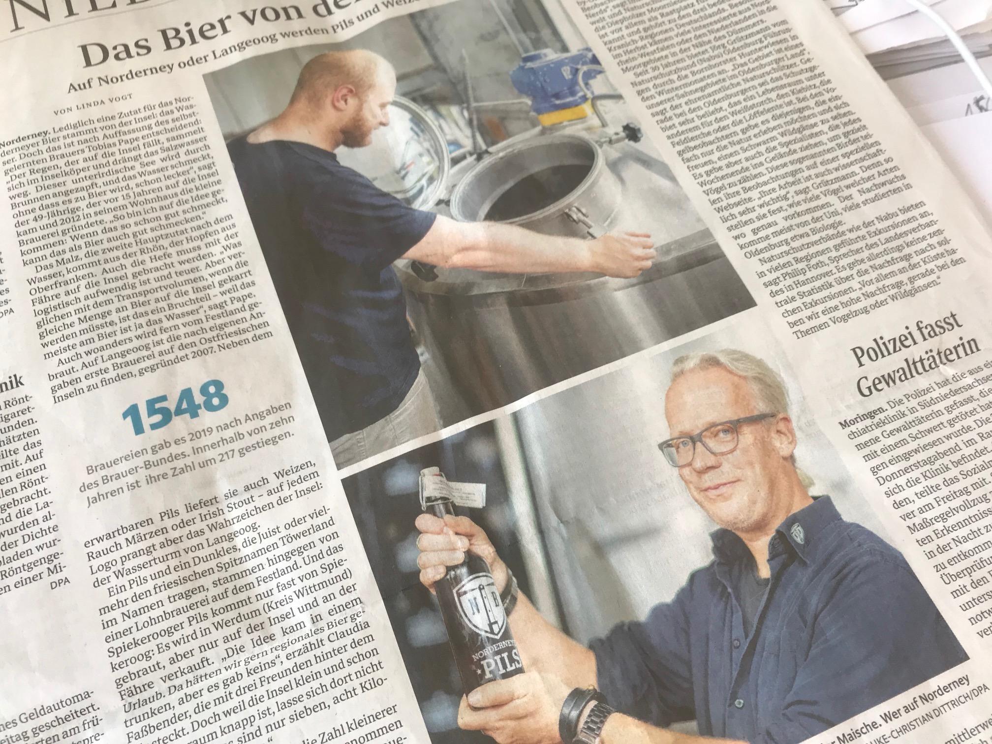 gastronews Norderney Weserkurier schreibt über Bier