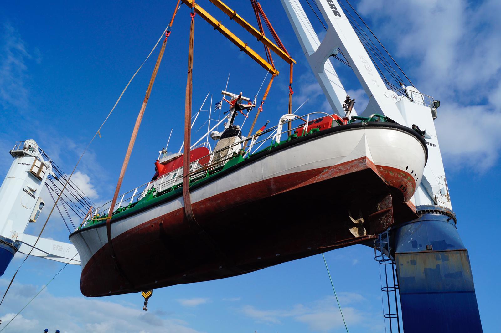 Die Schülke wurde von Norwegen nach Bremerhaven transportiert.
