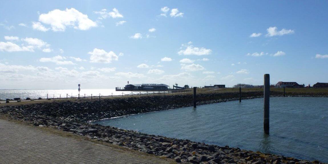 Hafen Blick auf das Terminal