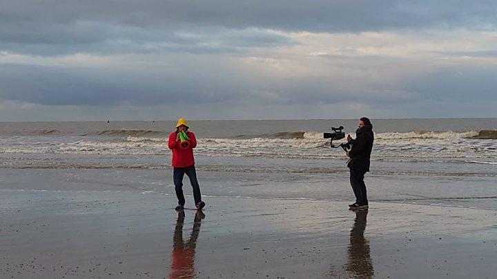 Zeit für Kreatives - Videodreh am Norderneyer Nordstrand