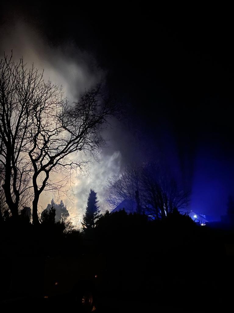 Brand in der Nordhelmsiedlung