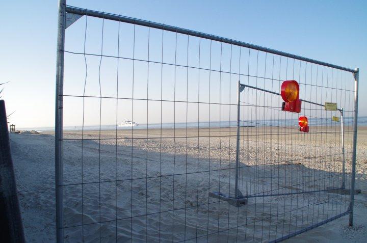 Bauarbeiten Weststrand
