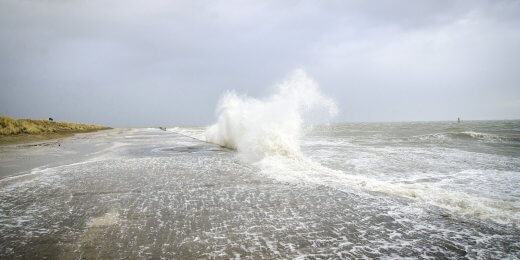 Sturmflut Westdeich 2019 Foto NLWKN