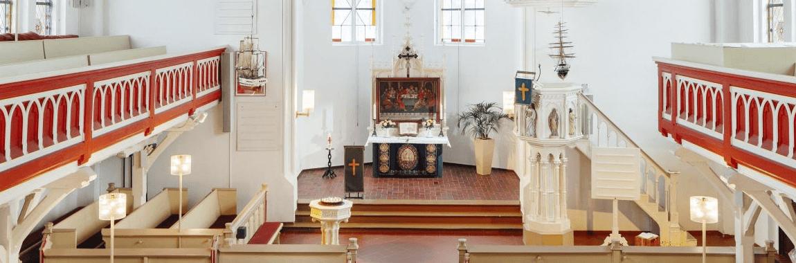 evangelische Inselkirche Norderney Banner